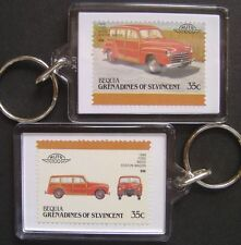 1948 FORD Woodie Wood Station Wagon Car Stamp Keyring (Auto 100 Automobile)