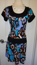 Diane Von Furstenberg Floral Drop Waist Silk Dress~Sz-2~ BEAUTIFUL~