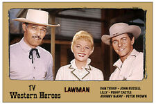 "4x6"" Magnet Print- ""Lawman"" - John Russell, Peter Brown, Peggy Castle"
