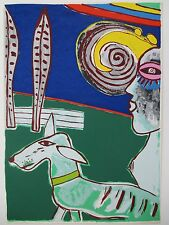 GUILLAUME CORNEILLE LITHOGRAPH 70x50cm HANDSIGNED
