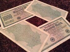 LOTTO di 4 x BANCONOTE TEDESCHE. 1000 Marco. Reichsbanknote. DATATO 1922. Germania.