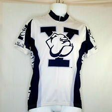 Adrenaline Promotions Yale Mens M Go Bull Dogs Cycling Jersey White and Blue