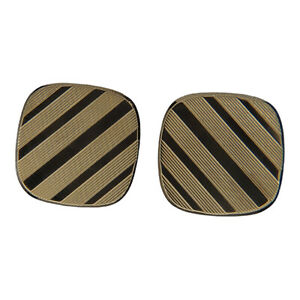 Square Patterned Cufflinks - 9ct Yellow Gold - 17mm