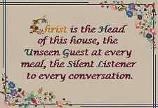 The Unseen Guest Sampler - Photocross Cross Stitch Charts (CSC/17/0034)