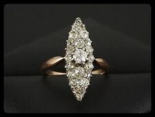 Antiker Diamant Marquise Ring ca. 0,80ct Platin & Rotgold