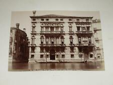 NAYA / VENISE VENEZIA 1870 Palazzo Fini Gran Canale VINTAGE Albumen Print
