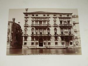 Naya / Venice Venezia 1870 Palazzo Finish Gran Canale Vintage Albumen Print