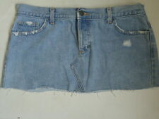 ☆ WAREHOUSE Ladies Blue Distressed Denim Mini Skirt UK 12 EU 40 ☆