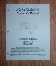 CUB CADET 5254 OWNERS OPERATORS MANUAL