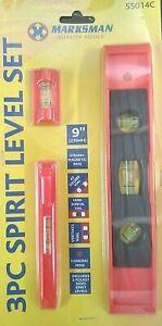 Spirit Level Set of 3 piece 9inch 230mm frame level