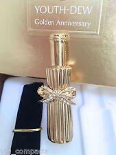ESTEE LAUDER YOUTH-DEW GOLD FLACON SOLID PERFUME COMPACT /Orig BOX RARE VTG BNIB