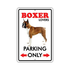 Parking For Boston Terrier Lovers Only Novelty Aluminum Metal 8x12 Dog Sign