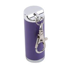 Smoking Ashtray Metal Mini Ash Holder Travel Cylinder Creative Keyring Purple