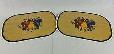 """Set of 2 Decofoam Placemats by Conimar Reversible Fruit Pattern 17"""" x 11"""""""