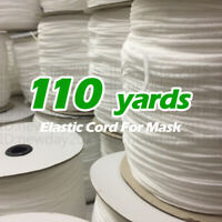 110YARDS - 1/8INCH ROUND ELASTIC BAND CORD EAR HANGING - FOR FACE MASK SEWING