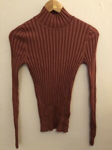 VERONIKA MAINE Small Ribbed Fine Knit High Neck Jumper