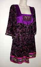 Velvet dress by Custo Barcelona,UK size 14