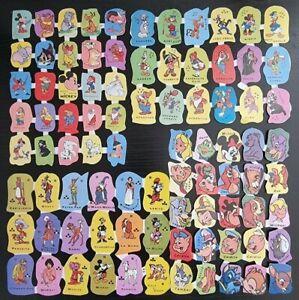 4 Laminas 84 Cromos Troquelados o de Picar.Walt Disney