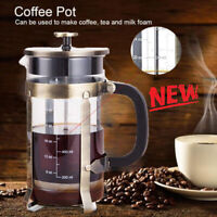 New 1000ML 304 Stainless Steel 34 oz 8 Cups French Press Pot Tea Coffee Maker US