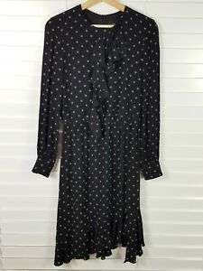 CUE Womens Size 8 Long Sleeves Print Dress