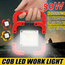 50W Solar USB Rechargeable LED COB Work Light Camping Security Floodlight Lamp