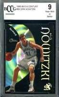 Dirk Nowitzki Beckett BCCG 9 1998 E-X Century Rookie