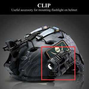 Helmet Flashlight Clip Durable Quick Release Clamp for Night Hunting Cycling
