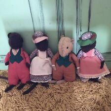 vintage brambly hedge toy Mice X4 Soft Toys Handmade