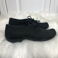 DANSKO Black Snake Leather Lace Up Oxfords Shoes Size EUR 40 US 9.5-10 Womens
