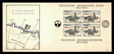 DR WHO 1957 BELGIUM FDC ANTARCTIC EXPEDITION CACHET S/S  g03571