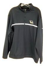 Nike Golf Tour Performance Black 1/4 Zip Jacket Warm up Black Long Sleeve