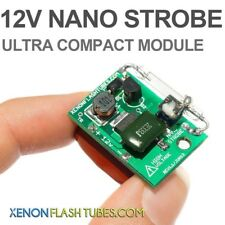 12v NANO STROBE Compact XENON Flash Strobe Warning Beacon Alarm Flashing Drone