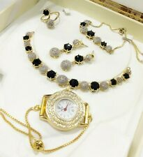 Sterling Red Stone American Diamond Love Watch Crystal Quartz Gold Silver Plated
