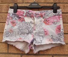 H&M Denim Floral Shorts for Women