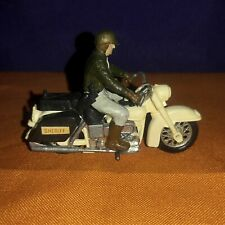 Britains #9692, U.S. Sheriff on Harley Davidson Motorcycle. Played with no 📦