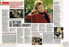 Coupure de presse Clipping 1990 (2 pages) Danièle Gilbert