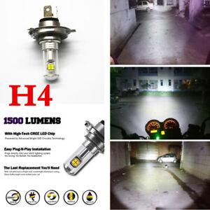 1x Motorcycle H4 6500K LED Hi/Lo Beam Front Light Bulb Super Bright Headlight
