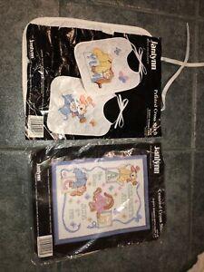 Lot Of (2) janlynn cross stitch kit Baby Theme