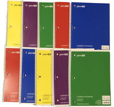 10 Pcs Lot Spiral Color Note Book Wide Ruled One Subject School Office Note Pad