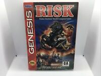 RISK Sega Genesis Complete CIB Vintage Game Great Condition Fast Shipping
