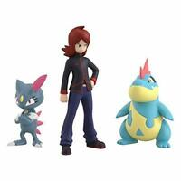 Pokemon scale World Figure Johto region Silver & Croconaw & Sneasel BANDAI Japan