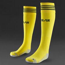 ADIDAS ACM AC MILAN BOYS FOOTBALL SOCKS  SIZE 2 3 4  SOCCER SPORT YELLOW  NEW