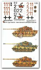 Peddinghaus 1/35 Tiger II (King Tiger) Tank Markings WWII No.1 (3 tanks) 981