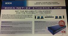 Boca Net-24 Ethernet Hub, 5 Year Manufacturer Limited Warranty Old Inventory