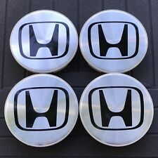 NEW HONDA SET OF 4 ALUMINUM 69MM WHEEL CENTER HUB CAPS RIM EMBLEM 44732-S0X-A01