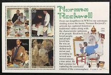 1994 - Scott #2840 - 50¢ - Norman Rockwell - Souvenir Sheet of 4, Mint Nh