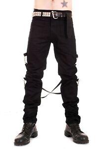 Punk Rock UK Black Bondage Pants Trousers from Tiger of London