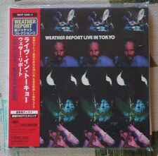 Weather Report - Japan Mini LP 2 CD - Live In Tokyo 1972 Jazz Fusion SICP 1240-1