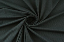 Jacquard stretch losanghe grigio e nero TESSUTO AL METRO STOFFA A METRAGGIO