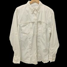 New listing World Wide Sportsman Shirt Sz Xl Womens Button Up, Long Sleeve, Vented White